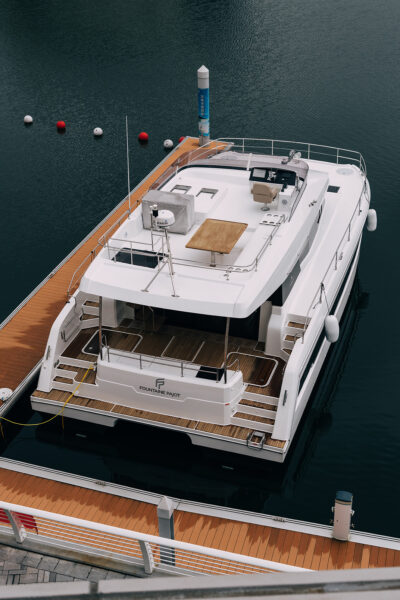 Docked Fibre Glass Boat